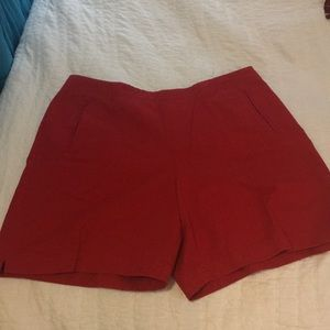 Red IZOD shorts size 14
